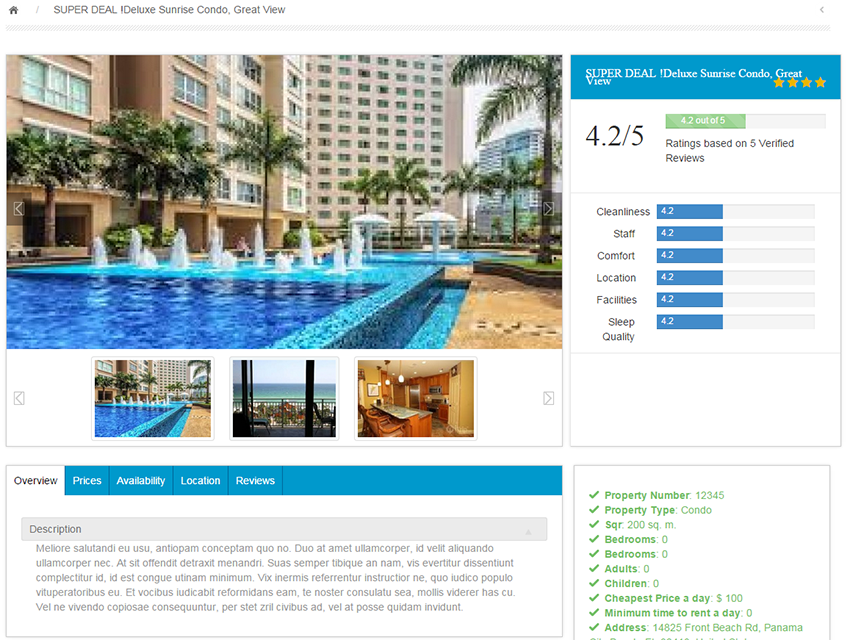 PHP Vacation Rental Script full screenshot