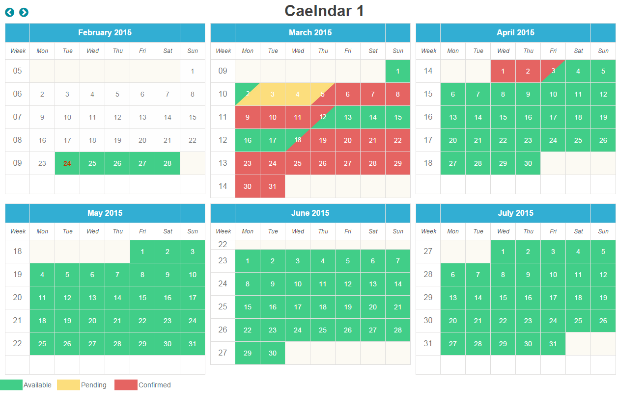 Availability Booking Calendar Php Php Script