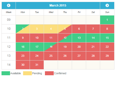 time slot booking calendar php